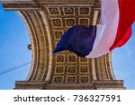 arc de triomphe in paris ... | Shutterstock . vector #736327591