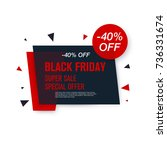 black friday sale label. stock... | Shutterstock .eps vector #736331674