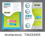 business flyer design template. ... | Shutterstock .eps vector #736333405