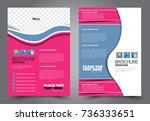 business flyer design template. ... | Shutterstock .eps vector #736333651