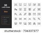 30 high quality development... | Shutterstock .eps vector #736337377