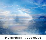 the abstract image of the... | Shutterstock . vector #736338391