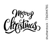 merry christmas template for... | Shutterstock .eps vector #736344781