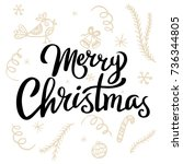 merry christmas template for... | Shutterstock .eps vector #736344805