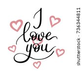 i love you template for banner... | Shutterstock .eps vector #736344811