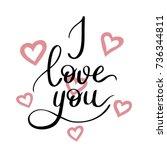 i love you template for banner...   Shutterstock .eps vector #736344811