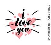 i love you template for banner...   Shutterstock .eps vector #736344817