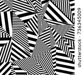black and white pattern ... | Shutterstock . vector #736345009