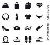 16 vector icon set   shopping...   Shutterstock .eps vector #736346701