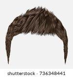 trendy man hairs.brunette brown ... | Shutterstock .eps vector #736348441