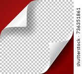 curly page corners set.... | Shutterstock .eps vector #736351861