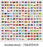 vector world flags all in one.... | Shutterstock .eps vector #736355419