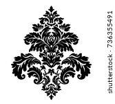 floral vector oriental pattern...   Shutterstock .eps vector #736355491
