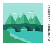 Mountain Landscape With An Arch ...