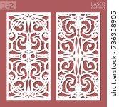 ornamental panels template for... | Shutterstock .eps vector #736358905