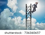 businessman slipping from the... | Shutterstock . vector #736360657