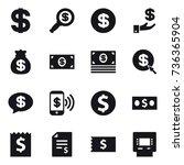 16 vector icon set   dollar ... | Shutterstock .eps vector #736365904