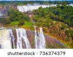 border of argentina  brazil... | Shutterstock . vector #736374379