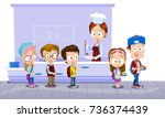 vector illustration of school... | Shutterstock .eps vector #736374439