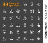 beauty and spa icons | Shutterstock .eps vector #736375459