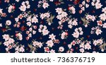 seamless floral pattern in... | Shutterstock .eps vector #736376719