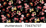 seamless floral pattern in... | Shutterstock .eps vector #736376737