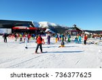 jasna  slovakia   january 22  ...   Shutterstock . vector #736377625