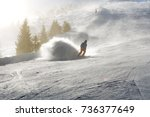 jasna  slovakia   january 25  ...   Shutterstock . vector #736377649