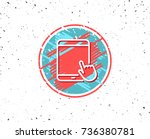 grunge button with symbol.... | Shutterstock .eps vector #736380781