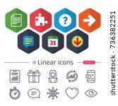 calendar  speech bubble and... | Shutterstock .eps vector #736382251
