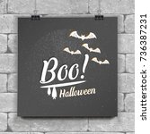 happy halloween set. invitation ...   Shutterstock .eps vector #736387231