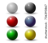set of colorful spheres. vector ... | Shutterstock .eps vector #736393867