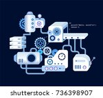 programming process abstract... | Shutterstock .eps vector #736398907