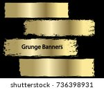 gold vector template set of... | Shutterstock .eps vector #736398931