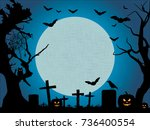 halloween background. halloween ... | Shutterstock .eps vector #736400554