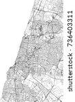 streets of tel aviv  city map ... | Shutterstock .eps vector #736403311