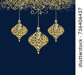 elegant sparkling christmas... | Shutterstock .eps vector #736406437