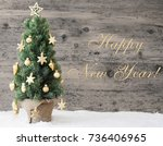english text happy new year.... | Shutterstock . vector #736406965