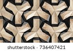 wood design 3d texture with... | Shutterstock . vector #736407421