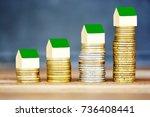 real estate price evolution... | Shutterstock . vector #736408441