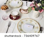 bridal shower  | Shutterstock . vector #736409767