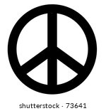 black and white peace icon