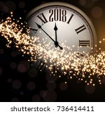shining 2018 new year... | Shutterstock .eps vector #736414411