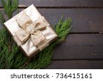 christmas presents with ribbon...   Shutterstock . vector #736415161