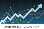 business graph and chart | Shutterstock .eps vector #736417774