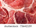 macro shot of raw juicy meat - stock photo