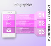 infographics with a smartphone. ... | Shutterstock .eps vector #736422505