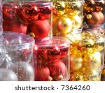 christmas decorations in a shop   Shutterstock . vector #7364260