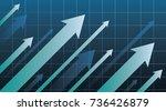 financial arrow graph | Shutterstock .eps vector #736426879