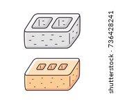 cinder concrete building block...   Shutterstock .eps vector #736428241